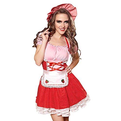 Mirlun Nette Frauen Cosplay Französisch Maid Schürze Kostüm