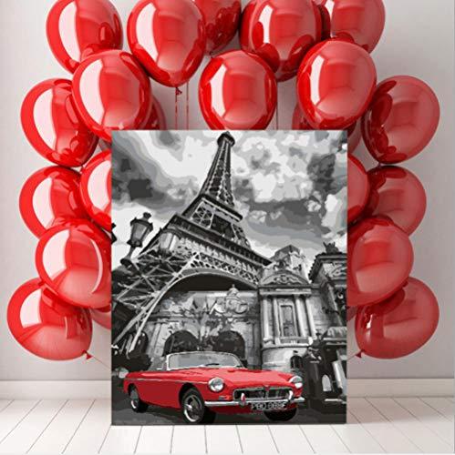 LPFLF Eiffelturm Besondere Architektur Frankreich Paris Klassische Romantische Ästhetische DIY Digitales Ölgemälde Dekoration 40 * 50 cm