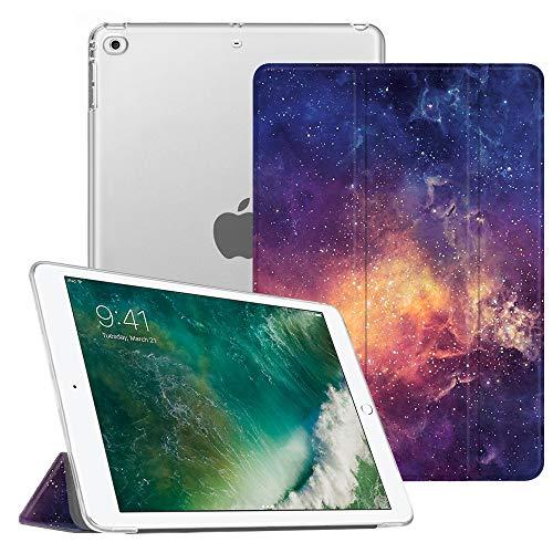 FINTIE Nuovo iPad 9.7 Pollici 2018 2017 Cover - Sottile Leggero Semi-Trasparente Custodia Smart Case con Auto Sveglia/Sonno Funzione per Apple New iPad 9,7 inch 2018 2017 Modello, Galaxy