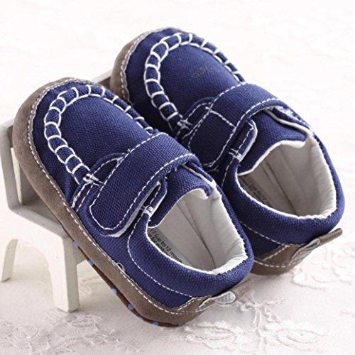 Hunpta Baby-Krippe Schuhe Kleinkind weiche Sohle Turnschuhe Freizeitschuhe (Alter: 0 ~ 6 Monate, Blau) Blau
