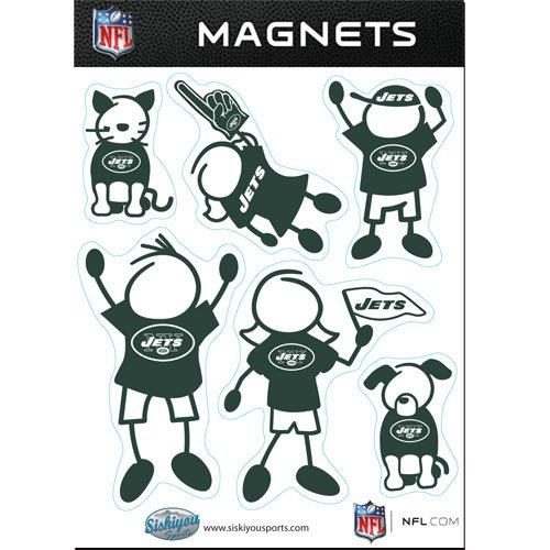 NFL Family Magnet Set, New York Jets, One Size Fits All Nfl-magnet-jets