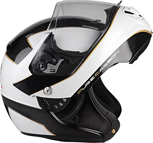 Lazer MLE041010F01S Monaco Evo Window Pure Carbon Casco Moto Modular,