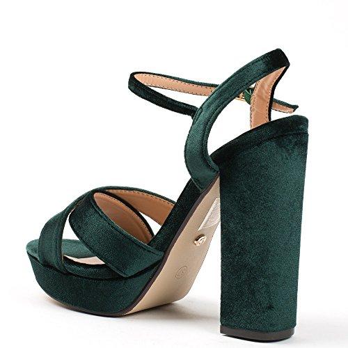 Ideal Shoes ,  Sandali donna Verde