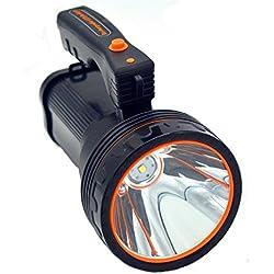 Ambertech Recargable 7000 Lúmenes Super Brillante Reflector LED Spotlight Linterna antorcha Linterna con Luz nítida