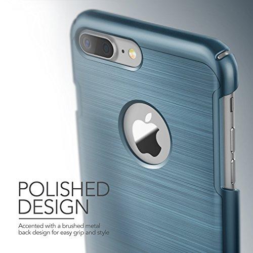 """Coque iPhone 7 Plus, VRS Design [Simpli Lite][Titanium Noir] - [Housse de Protection] [Slim Case][Kickstand][Anti Scratch Etui][Anti Chocs Case][Military Grade] Pour Apple iPhone 7 Plus 5.5"""" Bleu Nuit"""