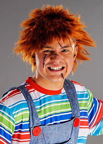 (8in1 Mens Chucky Style Messy Ingwer Perücke)