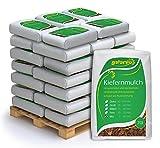 PALIGO Rindenmulch Mulch Garten Holz Dekor Rinde Borke Natur Pinus Sylvestris Wald Kiefer Mix 0-60mm 70l x 36 Sack 2.520l/1 Palette Galamio®