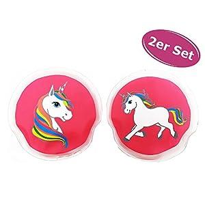 itsisa Taschenwärmer Einhorn 2er Set pink – Wichtelgeschenk, Handwärmer, Taschenheizkissen
