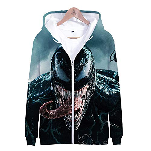 Cosplay Iron Fist Kostüm - Dwygx Unisex Hd 3D Druck Anime Printingsweatshirts Hooded Fashion Freizeitjacke Coat Cardigan Iron Fist Sweatshirt XS