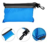 Silk Single Liner Sleeping Bag Camping Travel Mini Sleeping Bag (Sky blue)