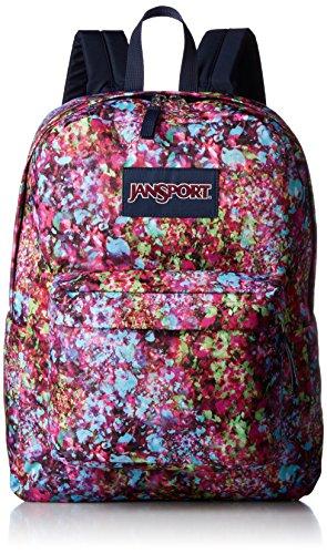 JanSport Superbreak mochila/Super Break Daypack, Multi Flower Explosion (Morado) - T5010UE