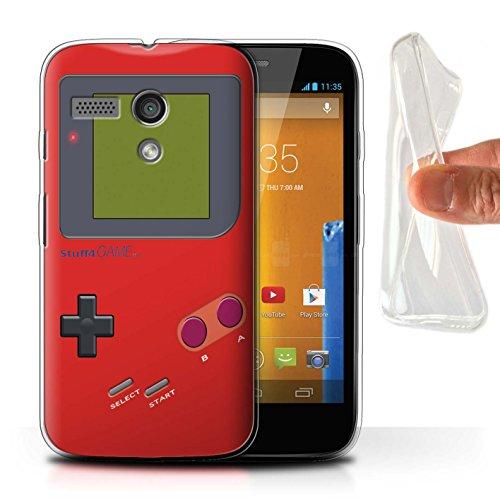 Stuff4® Gel TPU Hülle/Case für Motorola Moto G (2013) / Rot Muster/Videogamer/Gameboy Kollektion - Gameboy Motorola Moto G Case