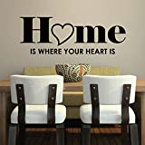 A315 Wandtattoo - Home is where your heart is