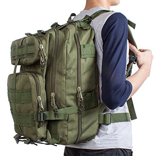 Imagen de  táctica, camtoa military army patrol ,  de senderismo  al aire libre moda bolsa de aire libre  de marcha  táctica  militar assault pack backpack. verde