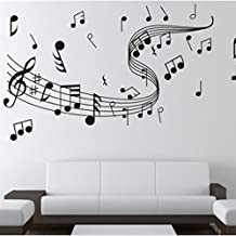 Topker Notas de la música Vinilo decorativo de pared Vinilo decorativo de vinilo decorativo Decoración del hogar