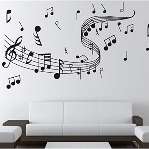 Aulley appunti di musica adesivo da parete adesivi smontabili di muro di vinile di casa decorazione domestica