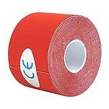 ROSENICE Cinta de kinesiología Vendaje Adhesivo para Soporte Músculo Elástico Impermeable 2.5 cm x 5 m (Rojo)