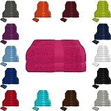 Handtuch Sets Frottier 500g/m2 in vielen Größen und Farben, sowie 10er Sparpack, 100% Baumwolle, 2er Pack Duschtücher Magenta