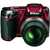 """Nikon Coolpix L110 Appareil photo numérique compact 12,1 Mpix Ecran 3"""" Zoom optique 15x Rouge"""