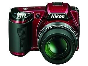 Nikon Coolpix L110 Digitalkamera (12,1 Megapixel, 15-fach Weitwinkelzoom, 7,5cm (3,0-Zoll) Display) rot