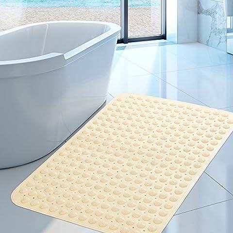 FLYRCX Grande taille sans odeur de bains tapis antidérapant douche salle de douche tapis de bain ventouse 58*90cm,JE