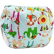 Eizur Neonato Nuoto Pannolino Bambino Infant Lavabile Riutilizzabile Nappy Bambini Diaper pantaloncini Costume da bagno Nuotata breve Breveregolabile mutanda per Spiaggia Estate Vacanza Tipo A