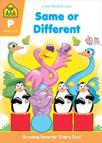 School Zone Pre Same or Different Wkbk (Get Ready Books)