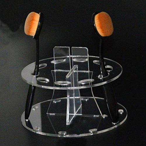 Neuf 10 trous ovale Brosse de Maquillage support présentoir Brosse de beauté Egouttoir Organiseur Cosmétique étagère