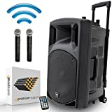 QTX QX15PA-Plus Portable PA System with Dual Wireless UHF Microphones | USB/SD MP3