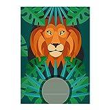 8 Grüne Dschungel DIN A4 Grundschul Hefte mit Löwe im Urwald Kontrastlineatur 2