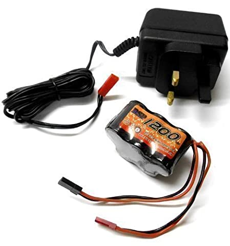 RC Receiver 1200mah 6v Battery Pack and Charger BEC JST Connector
