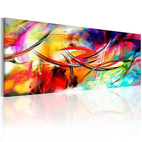 murando Bilder 135x45 cm - Leinwandbilder - Fertig Aufgespannt - Vlies Leinwand - 1 Teilig - Wandbilder XXL - Kunstdrucke - Wandbild - Abstrakt
