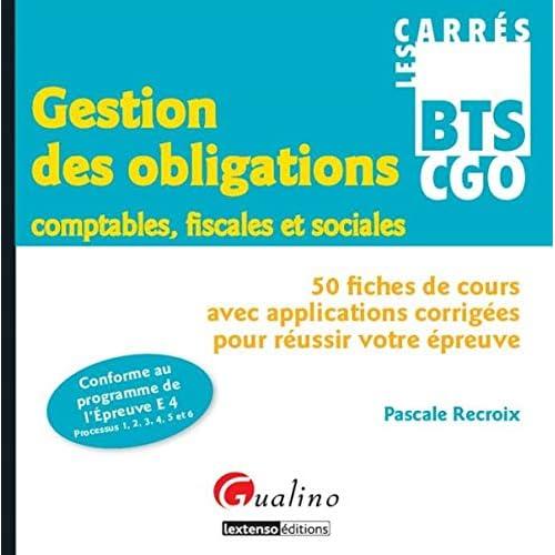 Carrés BTS CGO - Gestion des obligations comptables, fiscales et sociales (Epreuve E4)