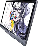 HUION GT-220 V2 Silver Pen Display 21.5 Inch IPS Graphics Drawing Tablet Monitor with 8192 Levels Pen Pressure Enhanced Linearity and Accurate Cursor Positioning for Mac and PC