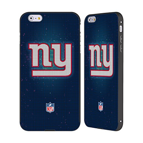 Ufficiale NFL Pattern 2017/18 New York Giants Nero Cover Contorno con Bumper in Alluminio per Apple iPhone 5 / 5s / SE LED