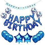 CHUER Palloncini Compleanno, Decorazione Compleanno Buon Compleanno Balloons Banner per Compleanno, Shower, Feste, Decorazioni Principali, Festoni Compleanno