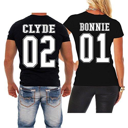 *Partnershirt Bonnie 01 & Clyde 02 (mit Rückendruck)*