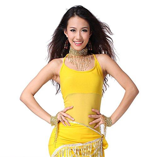 Women Sexy Dance Tops Bauchtanz Costume Short Vest Tops Dancewear Bauchtanz Tops (Zigeuner Stammes Bauchtanz Kostüme)