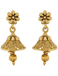 The Luxor Gold Plated Ethnic Daily Wear Earrings For Women(ER-1533)