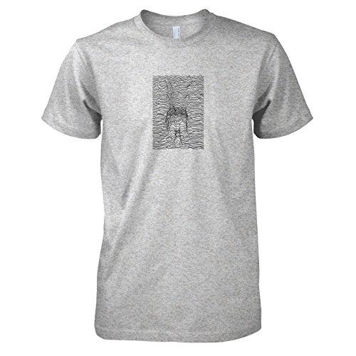 TEXLAB - Frank Lines - Herren T-Shirt Graumeliert