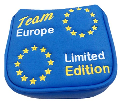 Team Europe Limited Edition magnétique Housse de putter de golf Maillet, 2boules, Spider, Odyssey Fang, Cameron Maillet