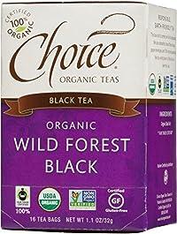 Choice Organic Teas Wild Forest Black Tea, 16-Count Tea Bags (Pack of 6)