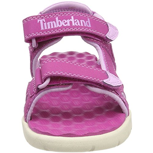 Timberland Unisex Kids Perkins Row 2 Ankle Strap Sandals  Pink Fuscia Rose  9 5  27 EU