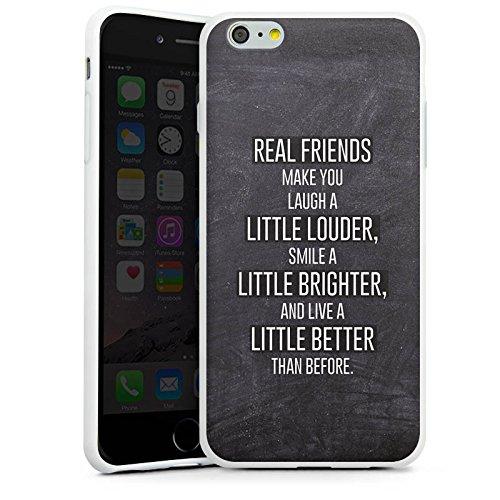 Apple iPhone X Silikon Hülle Case Schutzhülle Freunde Lachen Sprüche Silikon Case weiß