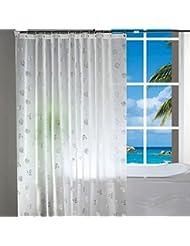 D G F Cortina de la ducha de PEVA Cuarto de baño interno Alta calidad Impermeable Cortina transpirable antiniebla Multi-tamaño Opcional ( Tamaño : 120*200cm )