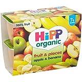 Hipp Fruits Bio Et Morceaux De Pommes Et Bananes 7 + Mois 4 X 100G