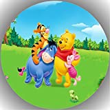 Fondant Tortenaufleger Tortenbild Geburtstag Winnie Pooh P2