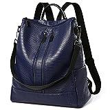 Sac à dos Femme Sac de PU Leather Cartable Sac de voyage Filles Sac à dos loisirs Bleu