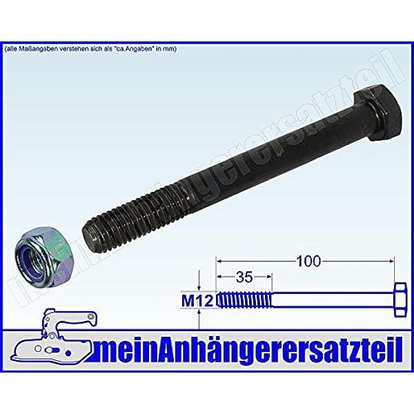 rostfrei DERING Sechskantschrauben M12x100 DIN 933 Edelstahl A2 | Gewindeschrauben 10 St/ück Sechskant-Schrauben