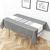 Tischdecke wasserdicht Anti-Hot-Tischdecke rechteckige Tischdecke Tisch Kaffeetisch Tischdecke Senna Menschen 85x85cm